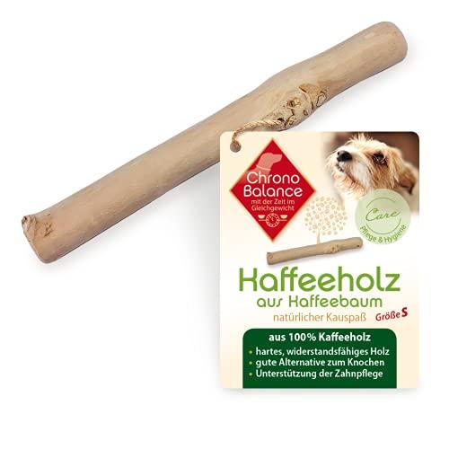 ChronoBalance® Kaffeeholz Kau-Knochen für Hunde, Hundespielzeug aus Holz - Kauspielzeug, Kaustab, und...