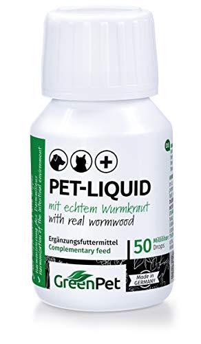 GreenPet 100% natürliches Wurm Pet-Liquid Tropfen Flüssig 50ml - Hunde, Katzen, Geflügel, Vögel,...