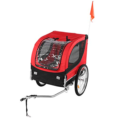 Cocoarm Fahrradanhänger Kinderanhänger Haustier Hundeanhänger Pet Bike Trailer Sicherheitsfahrradwagen...