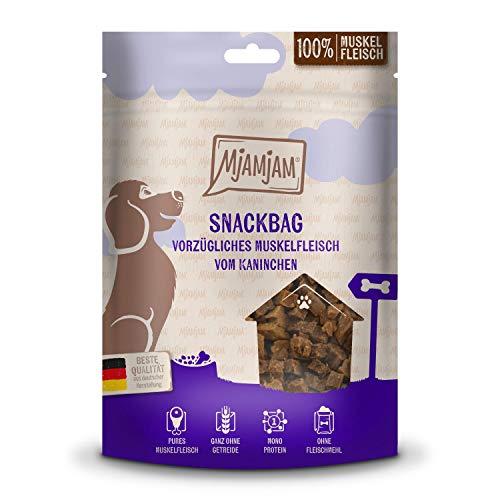 MjAMjAM - Premium Hundesnack - Snackbag - vorzügliches Muskelfleisch vom Kaninchen, getreidefrei,...