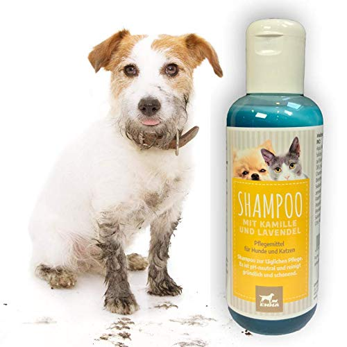 Hundeshampoo I Katzenshampoo ph neutral mit Kamille I Fellpflege für Hund Katzen I Fellglanz Shampoo I...