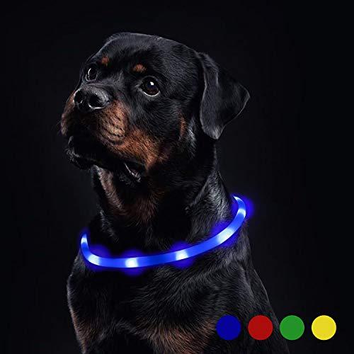 Toozey LED Leuchthalsband Hund für 20 Stunden Dauerlicht Wasserdicht (Verbesserte), USB Wiederaufladbar...