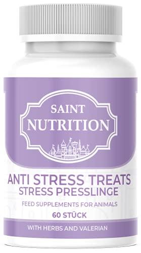 Saint Nutrition NEU Anti Stress Kapseln für Hunde und Katzen, unterstützend bei Panikattacken, innere...