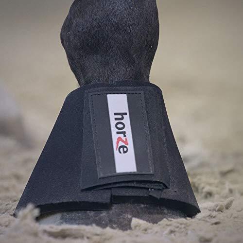 HORZE ProBell Hufglocken Pferd, Neopren, Alle Großen, Schwarz, XL