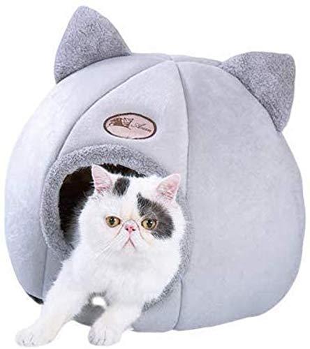 Warmes und bequemes Katzenhöhle, Haustier Nest mit rutschfestem Boden (geeignet für kleine Hunde,...
