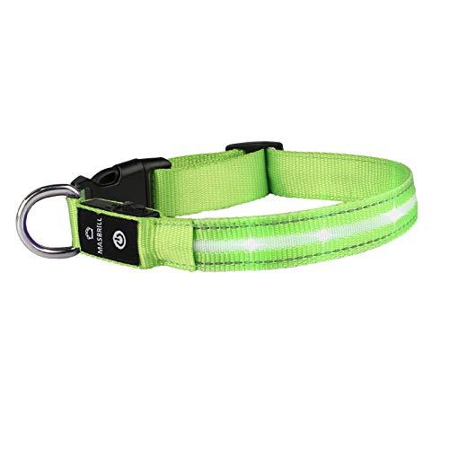Leuchthalsband für Hunde Aufladbar LED Hundehalsband 100% Wasserdicht Blinkende Lichter mit USB von...