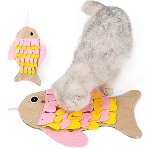 Filhome Schnüffelteppich Katze intelligenzspielzeug Waschbar rutschfest Schnüffelspielzeug Intelligenz...