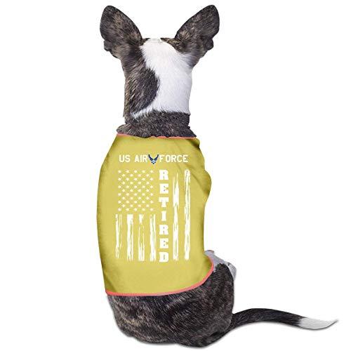 Florasun US AIR Retired American Flag Fashion Pet Kleidung Hund Shirt für Katzen und kleine Hunde Katze...