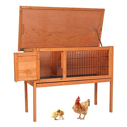 Owl's-Yard Kaninchenstall aus Holz Kleintierhaus Outdoor Tierstall, Hasenstall Holz für draußen mit...