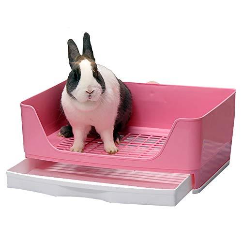 Baffect Corner Rabbit Litter Tray Ecke WC Haus, große Kaninchen Käfig Katzentoilette mit...
