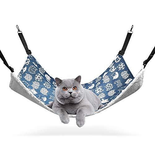ComSaf XL Hängematte für Gross Katzen, Katzen 56 x 48cm, Baumwolle und Stoff für Sommer & Winter,...