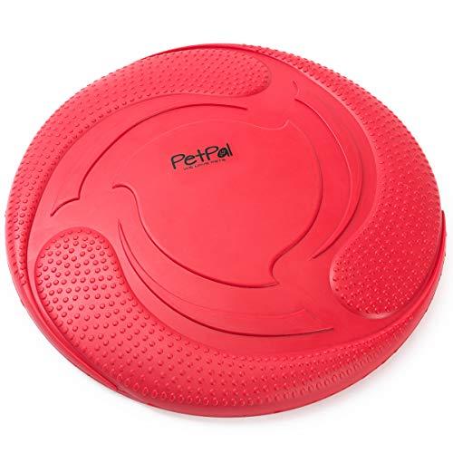 PetPäl Hunde Frisbee Naturkautschuk Schwimmend - Gummispielzeug aus Naturgummi Ø 23cm - Wasserspielzeug...