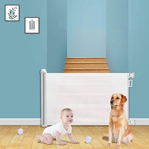 AJDGNL Treppenschutzgitter, Sphärische Wechseln Design Baby Absperrgitter Ausziehbar, Aluminiumgehäuse...