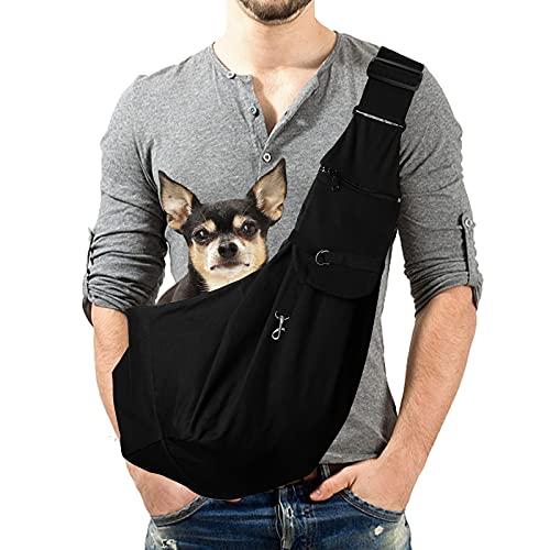 Lyneun Hundetragetasche Haustier Verstellbare Umhängetasche Transporttasche für Haustiere,Atmungsaktive...