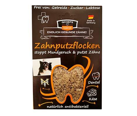 Qchefs Hunde Zahnputzflocken | Zahnpflege- Snack| Zahnpulver| Hundeleckerlie| Zahnsteinentferner | gegen...