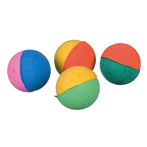 Trixie weicher Schaumstoff Gummi Ball, 4.3cm, 4Stück