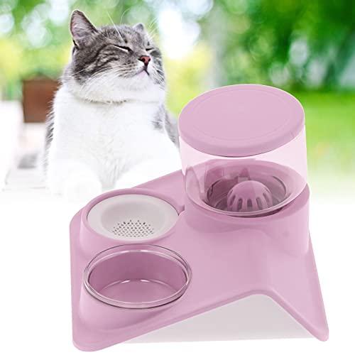Sxhlseller Wasserspender und Futterautomat Mehrschichtiger Filter und versiegelter Katzennapf...