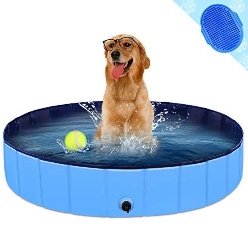 KingBaas Hundepool Faltbarer Hund Planschbecken Kinder Schwimmbecken Tragbares Haustier Swimmingpool...