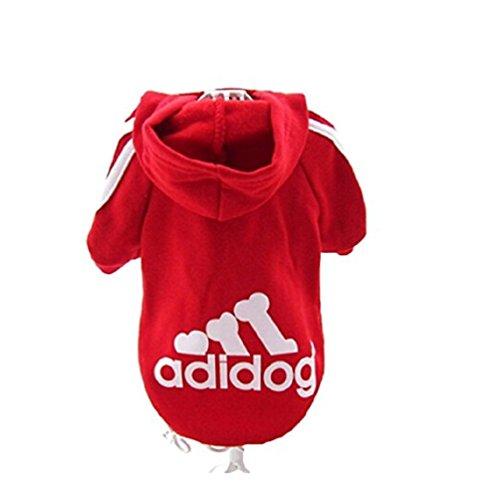 """KayMayn Hunde-Pullover mit Kapuze, Aufschrift """"Adidog"""", sportlicher Look, 7 Farben, in den Größen S..."""