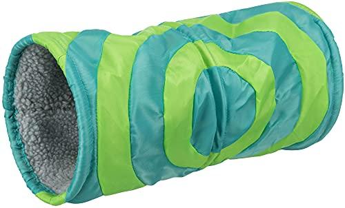 Trixie 6284 Kuscheltunnel für Kleintiere, ø 15 × 35 cm, grau/grün