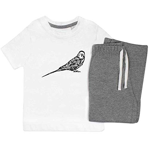 Azeeda 7-8 Jahre 'Wellensittich' Kinder Nachtwäsche / Pyjama Set (KP00041199)
