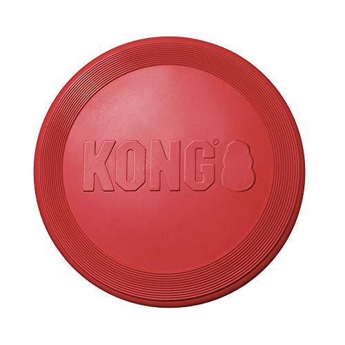 KONG – Flyer – Robustes Hundefrisbee aus Naturkautschuk – Für Kleine Hunde