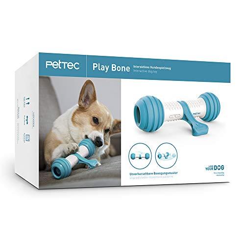 PetTec Interaktiver Spielknochen Hundespielzeug | akkubetrieben für Hunde, Katzen & Welpen | beißfest &...