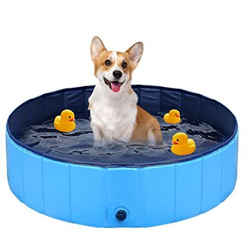 FayTun Hundepool Swimmingpool, haltbare PVC-Haustier-Badewanne, rutschfest, für drinnen und draußen,...