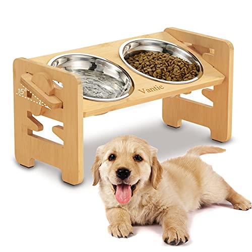 Vantic Hundenapf erhöht mit Ständer, Hundebar höhenverstellbar Futternapf für kleine Hunde und...