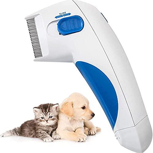 Electric Hundeflohkamm, Haustierfloh-entfernung Kammwerkzeug, Haustierhaarfloh-lice-Reiniger-Pinsel Für...