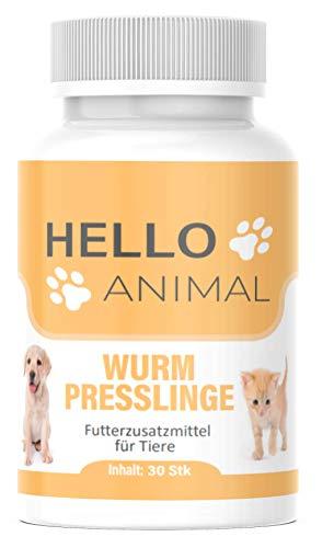 NEU: HelloAnimal® Wurm Presslinge Kur für Tiere wie Katzen, Hunde, Kaninchen und Geflügel - vor,...