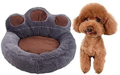 Graue Hundebett Plüsch Donut Anti-Rutsch Cat-Bett Cuddler mit weichem Kissen Runde waschbares Nest...