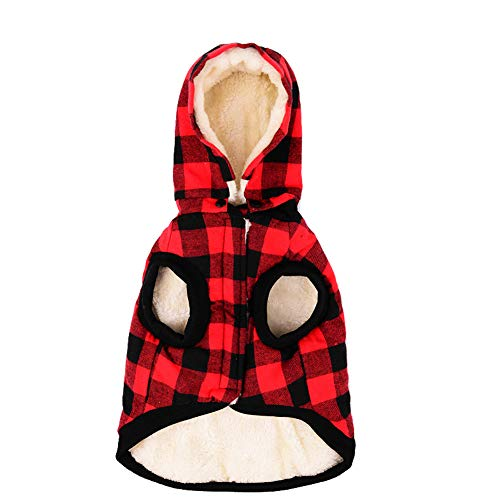 Tineer Large Hundebekleidung Haustier Pullover Hundegitter Kleidung Warm Removable Puppy Nette Kapuzen...