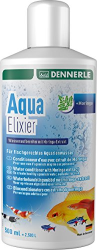 Dennerle Aqua Elixier - Wasseraufbereiter mit Moringa-Extrakt, für fischgerechtes Aquarienwasser (500...