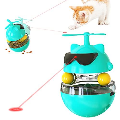 Runstarshow Infrarot-Spielzeug Katzen Tumbler Interaktives Spielzeug Drehbar Intelligenzspielzeug für...