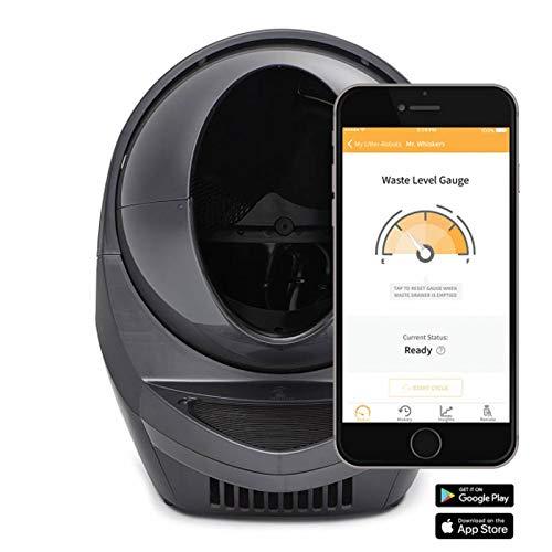 Litter-Robot 3 Connect Automatische selbstreinigende Katzentoilette (Grau) EU - WiFi