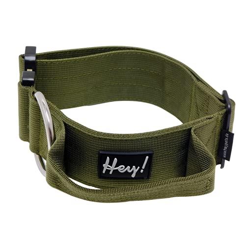 HeyPets Hundehalsband für große Hunde XL 45 - 55 cm verstellbare Länge, 5 cm breit - Dein Halsband mit...