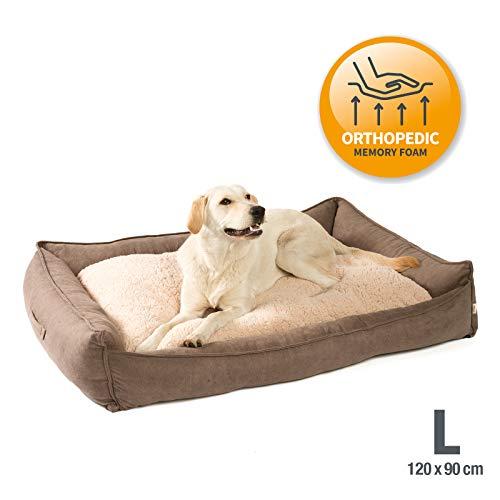 JAMAXX Premium Hundebett Orthopädisch Memory Visco Schaum Waschbar Wendekissen...