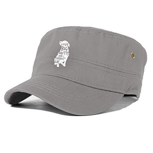 gjhj Lustige Hund Baumwolle Newsboy Military Flat Top Cap, Unisex Verstellbare Armee Washed Cadet Cap