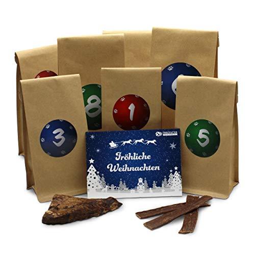 Frostfutter Perleberg Adventskalender Hund, Hundeadventskalender mit Spielzeug und Kausnack, Geschenke...