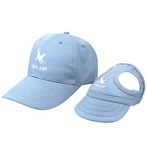 2 Stück Baseball Cap Kappen Hut Baseballmütze für Hunde und Hundehalter - Blau, S