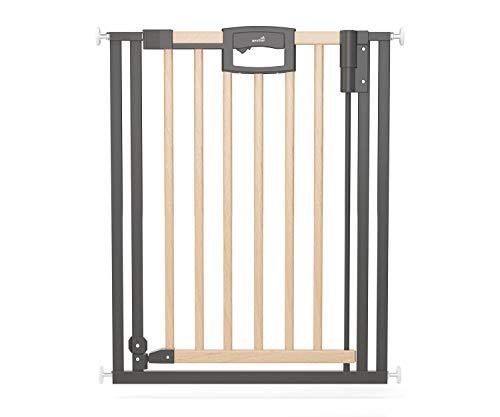 Geuther, Tür und Treppenschutzgitter ohne Bohren Wood 2791+ für Kinder und Hunde zum klemmen MetallHolz...