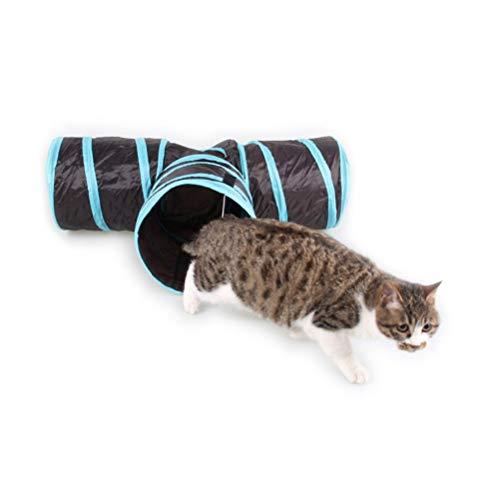 XYSQWZ Hundetunnel 3-Wege-Katzentunnel Faltbares Haustier-Trainingstunnelrohr für Kinder Katzen Hunde...