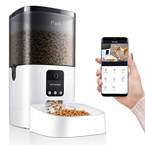 PUPPY KITTY 6L Intelligenter Futterautomat für Katze und Hunde, Automatischer Futterspender mit APP...