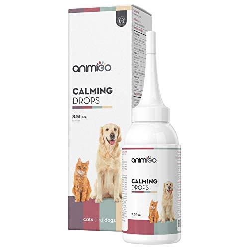 Animigo Calming Drops - Natürliche Beruhigungsmittel für Hunde & Katzen - Beruhigungstropfen bei...
