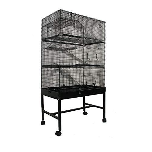 MyPets - Nager Käfig Mega Cage XXXL 145x70x40cm mit Schublade für leichtes Reinigen - Rattenkäfig...
