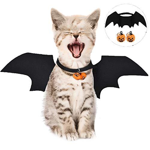 Katze Bat Wings Kostüm, Halloween Katze Kleidung, Pet Hund Bat Wings Katze Fledermaus Kostüm,Katze...