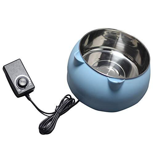 Rubyu-123 Beheizter Wassernapf für Hund Katze, Thermostatisch Frostschutz Futternapf, mit Bissschutz,...