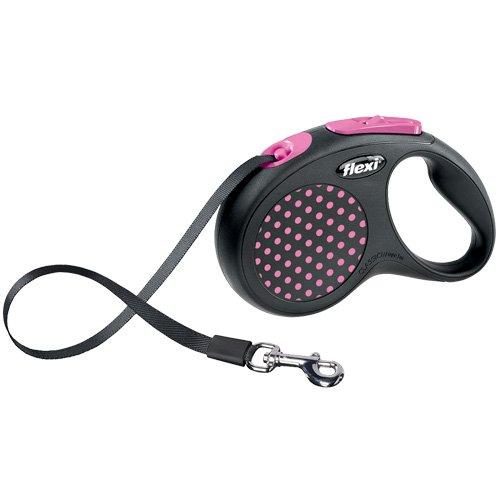 flexi . Roll-Leine Design, Gurt 5 m für Hunde bis Maximal 25 kg , M, pink