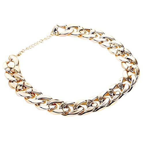 Balacoo Fashion Kunststoff Cool Gold Ketten Halskette für Katzen und kleine Hunde Welpen – Charming...